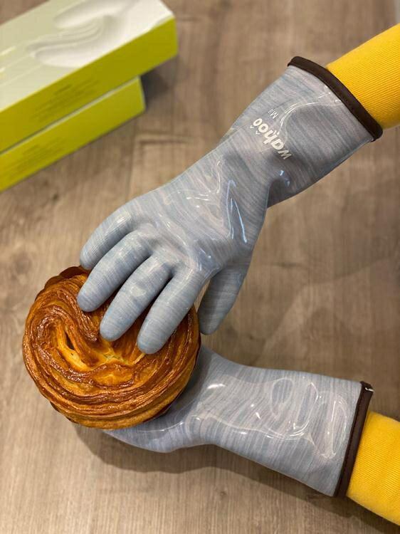 【快速出貨】wahoo蘭浪出口烘焙液態硅膠分指手套食品接觸隔熱耐高溫防燙烤箱 聖誕節全館免運