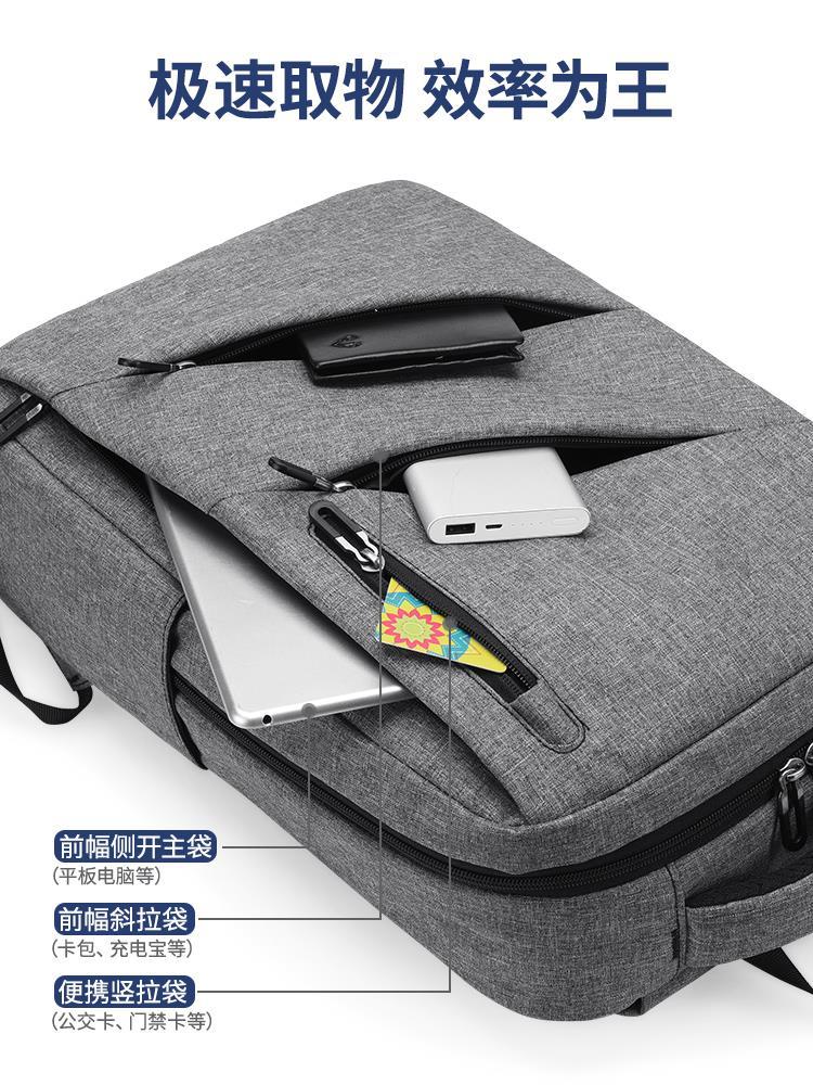 電腦包男雙肩包商務筆記本背包男士大容量15.6寸旅行出差休閑書包♠極有家♠