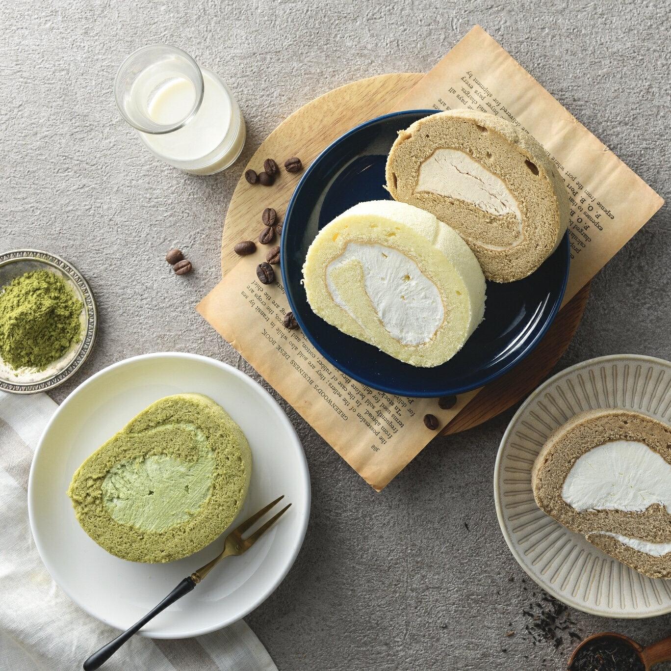【烘樂夫烘焙】拿鐵雪糕生乳捲  ▎總重量(份數):430~450公克 下午茶必備