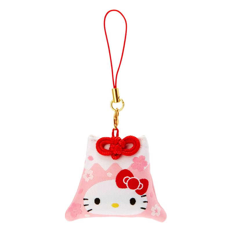 【積文館】富士山造型香包 日本進口 凱蒂貓 HelloKitty 手機吊飾 鑰匙圈 櫻花(6*4.5cm)
