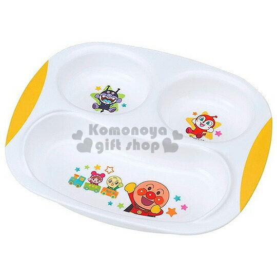 〔小禮堂嬰幼館〕麵包超人 塑膠餐盤《白.多角色.小火車.星星.三格》