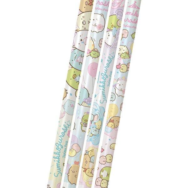 2B鉛筆 角落生物 角落小夥伴 貓咪恐龍白熊 珍珠遊樂園 四入組 素描鉛筆 卡通 低年級鉛筆 2b 鉛筆 筆 文具 真愛日本