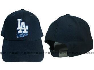Shoestw【5032065-580】MLB 棒球帽 調整帽 老帽 道奇隊 深藍 凸繡