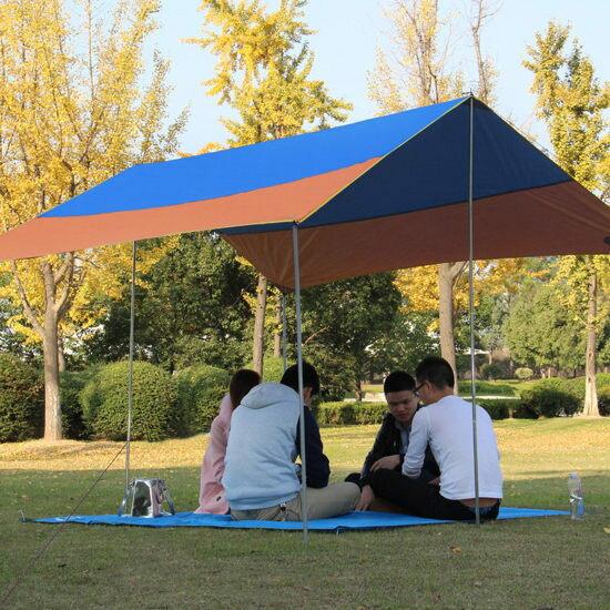 ♚MY COLOR♚遮陽戶外帳篷天幕 紫外線 野營 簡易 涼棚 草地 渡假 海邊 裝備 家庭 野餐【I01】