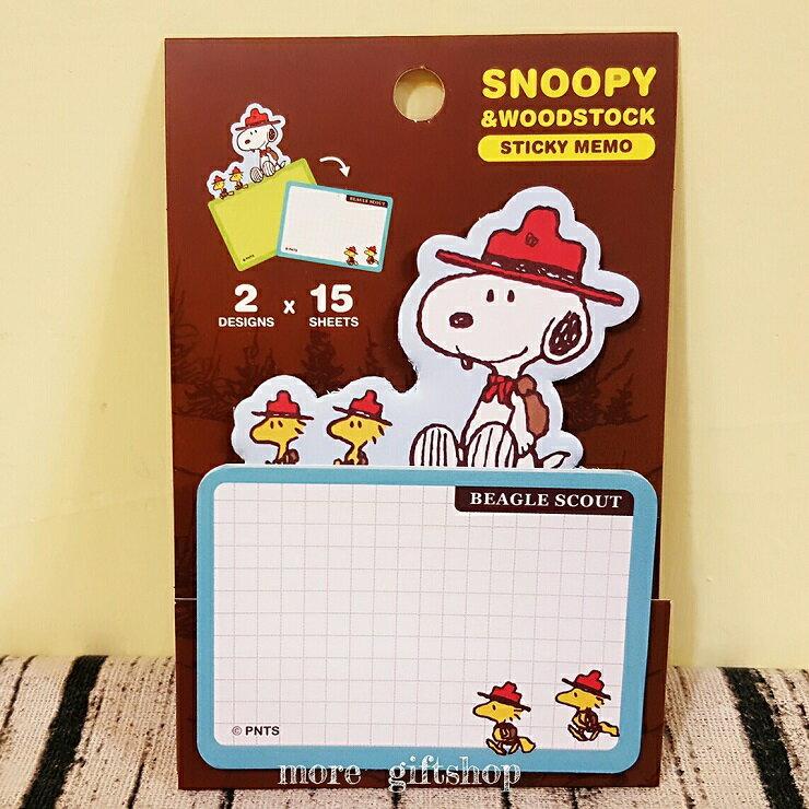 【more 禮品小舖】史努比 Snoopy 雙層便利貼 ( 咖啡色款 )