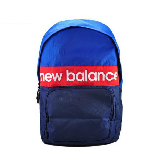 New Balance 後背包 雙肩大容量 藍 紅【運動世界】AAB63004BL