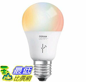 [106美國直購] 燈泡 SYLVANIA SMART A19 Full Color Tunable White LED Bulb 60W Equivalent Works with Amazon Alexa 73693