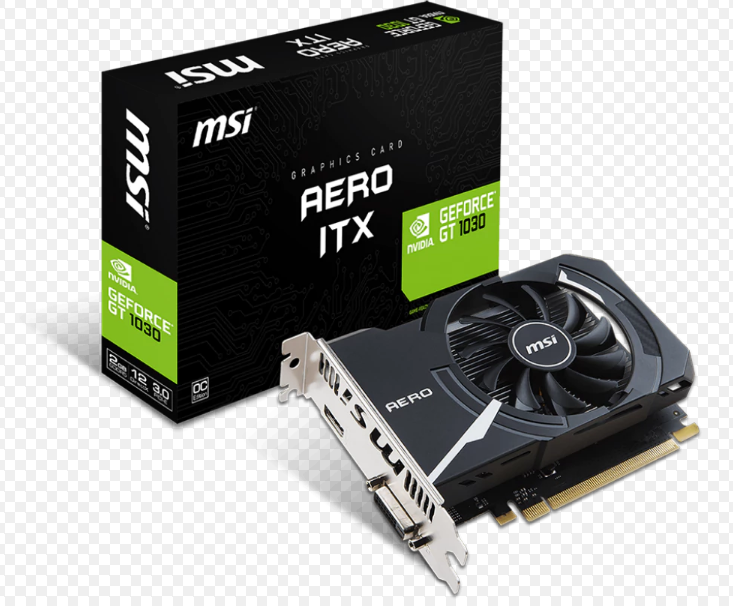 微星 顯示卡 MSI GeForce GT 1030 AERO 2G OC