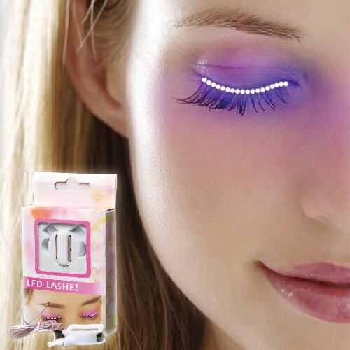 LED炫彩發光電眼睫毛燈歐美爆款LED假睫毛萬聖節禮物派對夜店酒吧必備