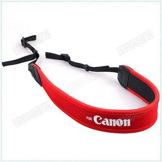 攝彩@For CANON 佳能 數位相機專用減壓背帶,紅色版【防滑設計,寬版加厚設計】單眼相機肩帶-20603