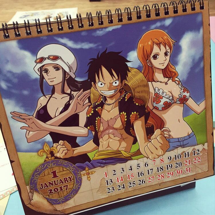 PGS7 ^(  ^) 卡通系列 ~ 航海王 海賊王 2017 桌曆 月曆 日曆 行事曆