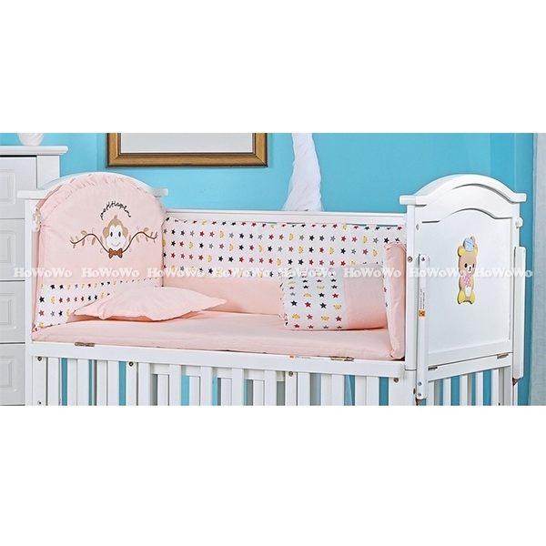 嬰兒床組小猴繡花寢具六件組 JB01121 好娃娃