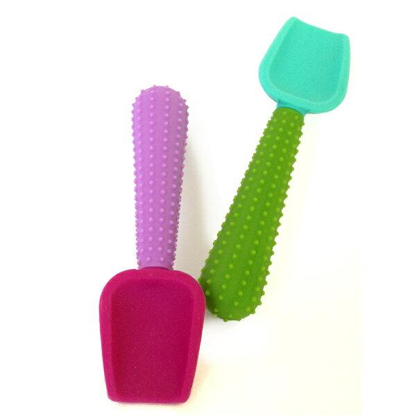 美國【silikids】果凍餐具-固齒器學習湯匙