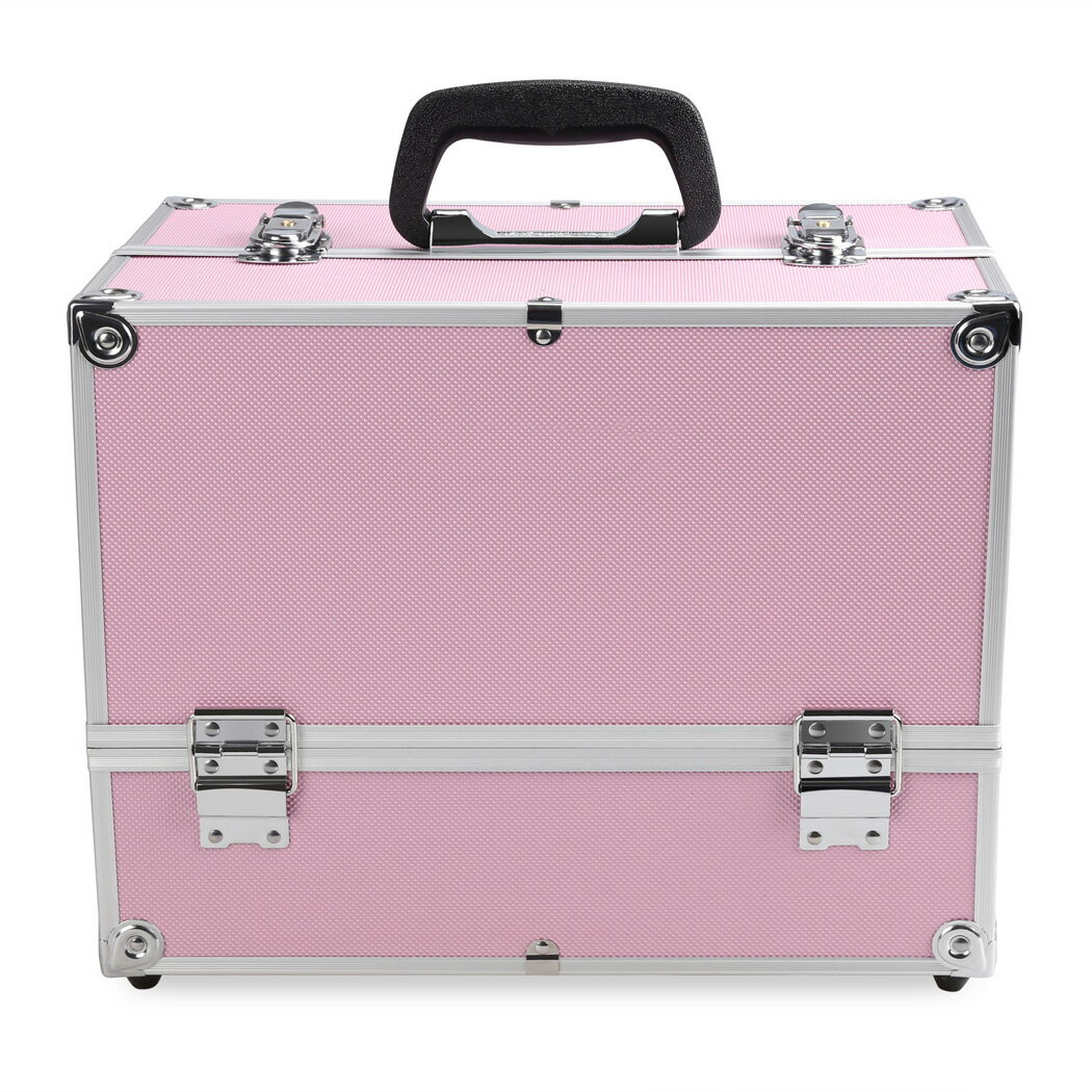 Home Case Jewelry Box Lockable Cosmetic Organizer Makeup Box 1