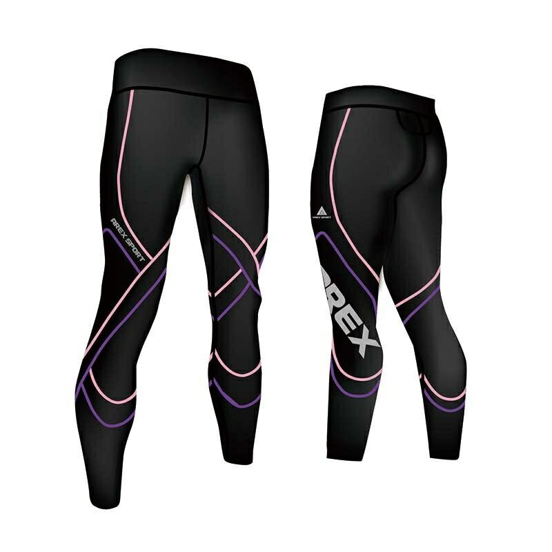 【台灣製-強效專業款】AREX SPORT 女款萊卡經典強力包覆壓縮褲-二代  壓力褲 內搭褲 束褲 緊身褲 XS-XL 3