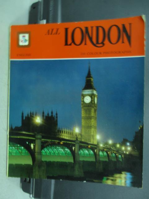 【書寶二手書T5/旅遊_QCF】ALL LONDON