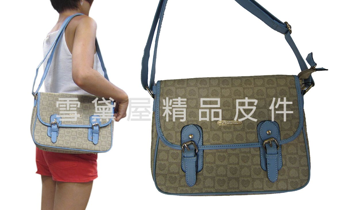 <br/><br/>  ~雪黛屋~POLO sandia 肩側包中容量書包專櫃個性進口防水防刮皮革+棉質內裡肩背斜側背L900-031M<br/><br/>