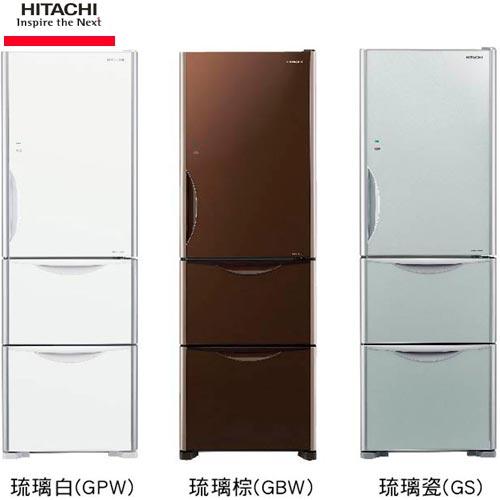 HITACHI日立RG41A394L三門電冰箱琉璃觸碰式操作面板琉璃棕GBW