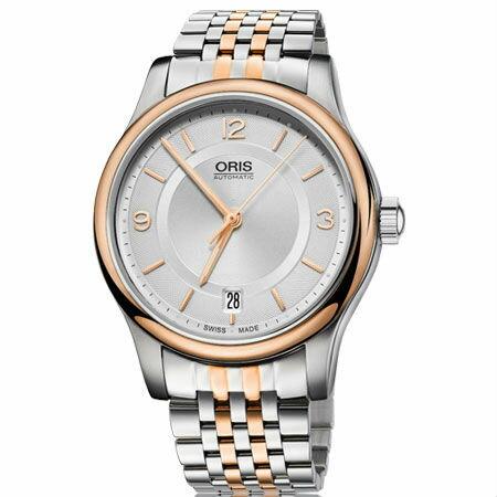 ORIS 豪利時 0173375784331~0781863 Classic Date系列 風格日曆腕錶   銀面 37mm
