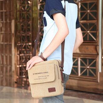 韓版 潮男 型男帆布包 帆布斜背包 復古側背包 後背包 單肩包 帆布包 旅行背包 商務包 (預購7-14天)
