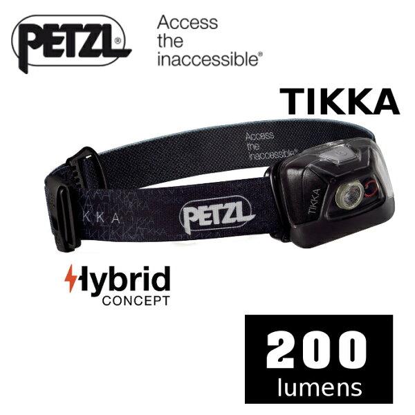 【速捷戶外】PETZLPTE93AAA黑色高亮度LED頭燈(200流明)ACTIKCORE,登山露營,戶外照明