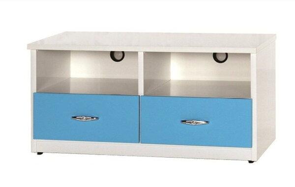 【石川家居】842-05(3.3尺藍白色)電視櫃(CT-212)#訂製預購款式#環保塑鋼P無毒防霉易清潔