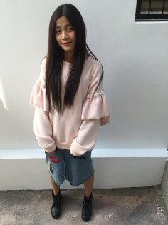 玫瑰皇后衣櫃:正韓粉紅色上衣