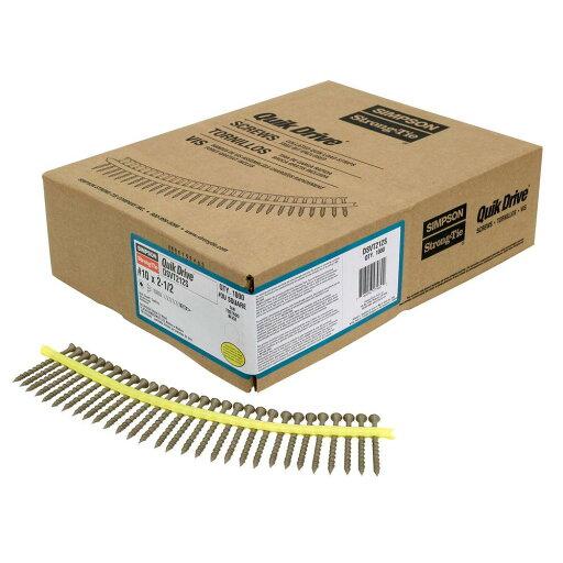 Simpson Strong-Tie DSVT212S QuikDrive Collated DSV Decking Screws 042f13fdd70040a3311c569f5d0d9f2f