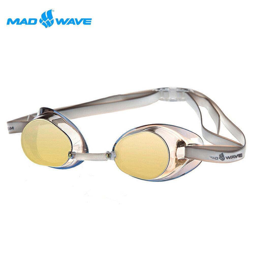 俄羅斯MADWAVE成人競技型電鍍泳鏡RACER SW MIRROR 1