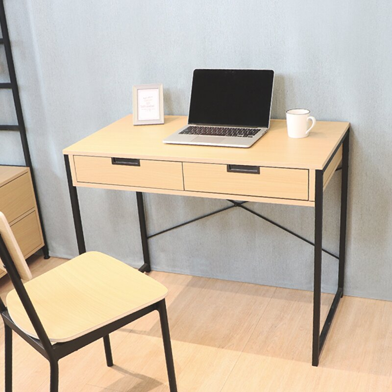 書桌 桌子 電腦桌【MT01】無印風日系雙抽屜書桌 天空樹生活館 618年中慶