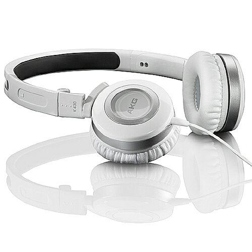 志達電子 K430 AKG 折疊式耳罩式耳機(愛科公司貨,白色,可試聽)