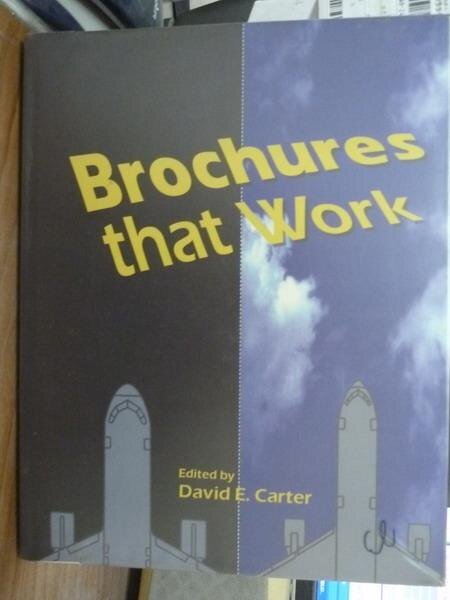 【書寶二手書T3/藝術_QHO】Brochures that work_David E. Carter