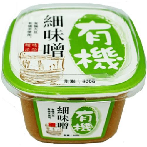 味榮 有機粗味噌/有機細味噌 500g/盒