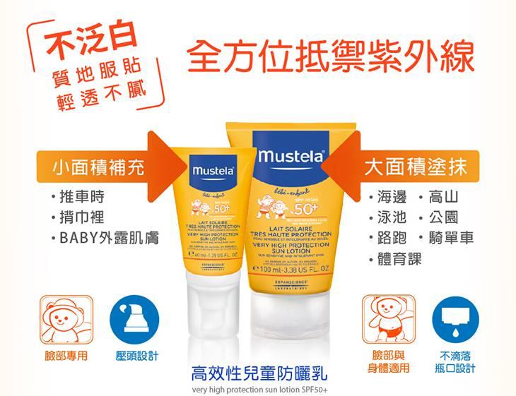 《Mustela慕之恬廊》嬰幼兒身體防曬乳 ( 100ml )