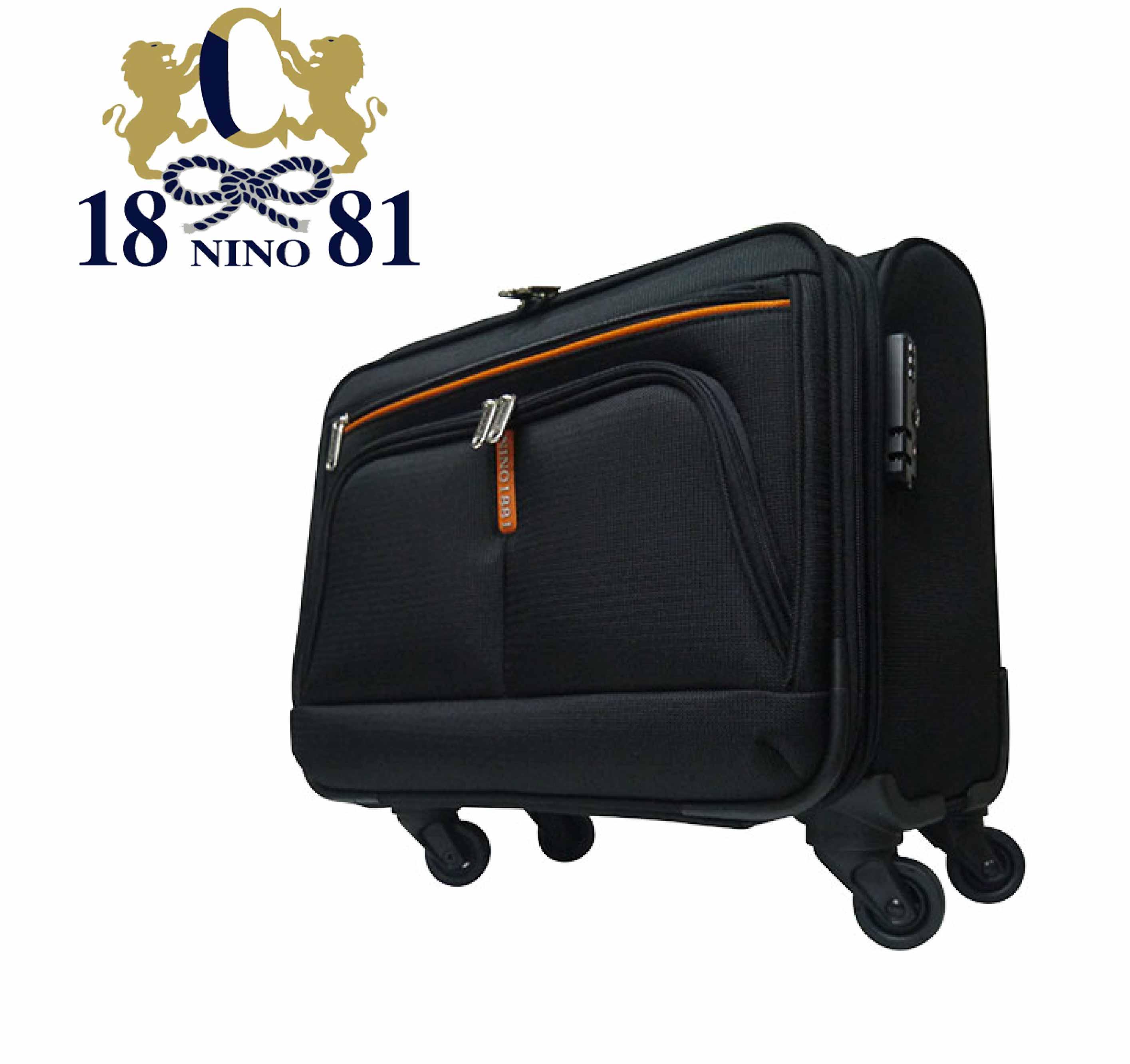 加賀皮件 NINO1881 16吋 旅行箱 行李箱 公事箱 登機箱 拉桿箱 布箱 四輪 8587