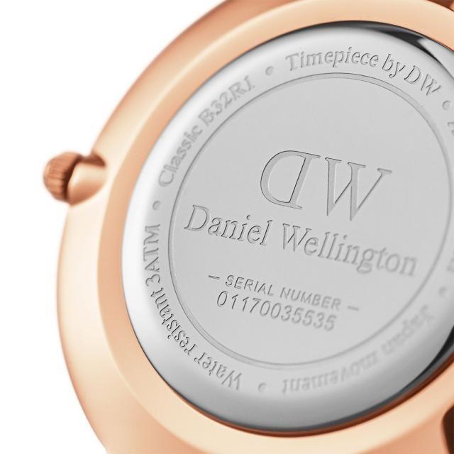 DW Daniel Wellington 丹尼爾惠靈頓 Classic Black Petite Melrose 米蘭風格時尚腕錶 DW00100161 玫瑰金 黑 32mm 3