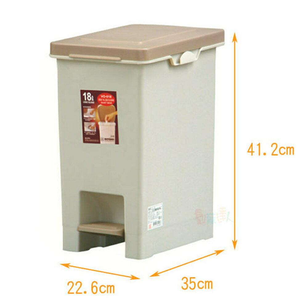 長島腳踏式隙縫垃圾桶18L(2入)