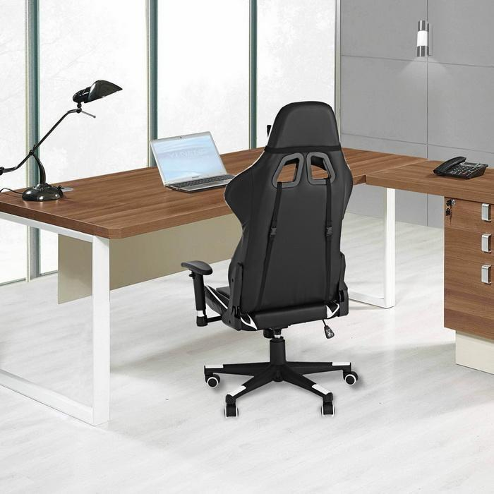 Office Chair with Armrests Ergonomic PU Padded High-Back Executive 1