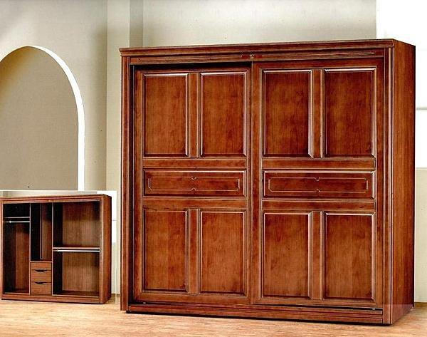 【尚品家具】 401-12 北美鐵衫木半實木7*7尺衣櫃衣櫥 《台中市部分地區免運費》