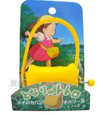 【真愛日本】12020600048 造型手轉音樂鈴-黃背包 龍貓 TOTORO 豆豆龍 收藏擺飾 日貨