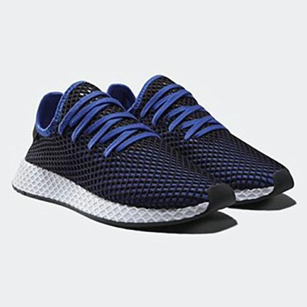AdidasDeeruptRunner男鞋慢跑休閒襪套網眼透氣深藍【運動世界】B41764