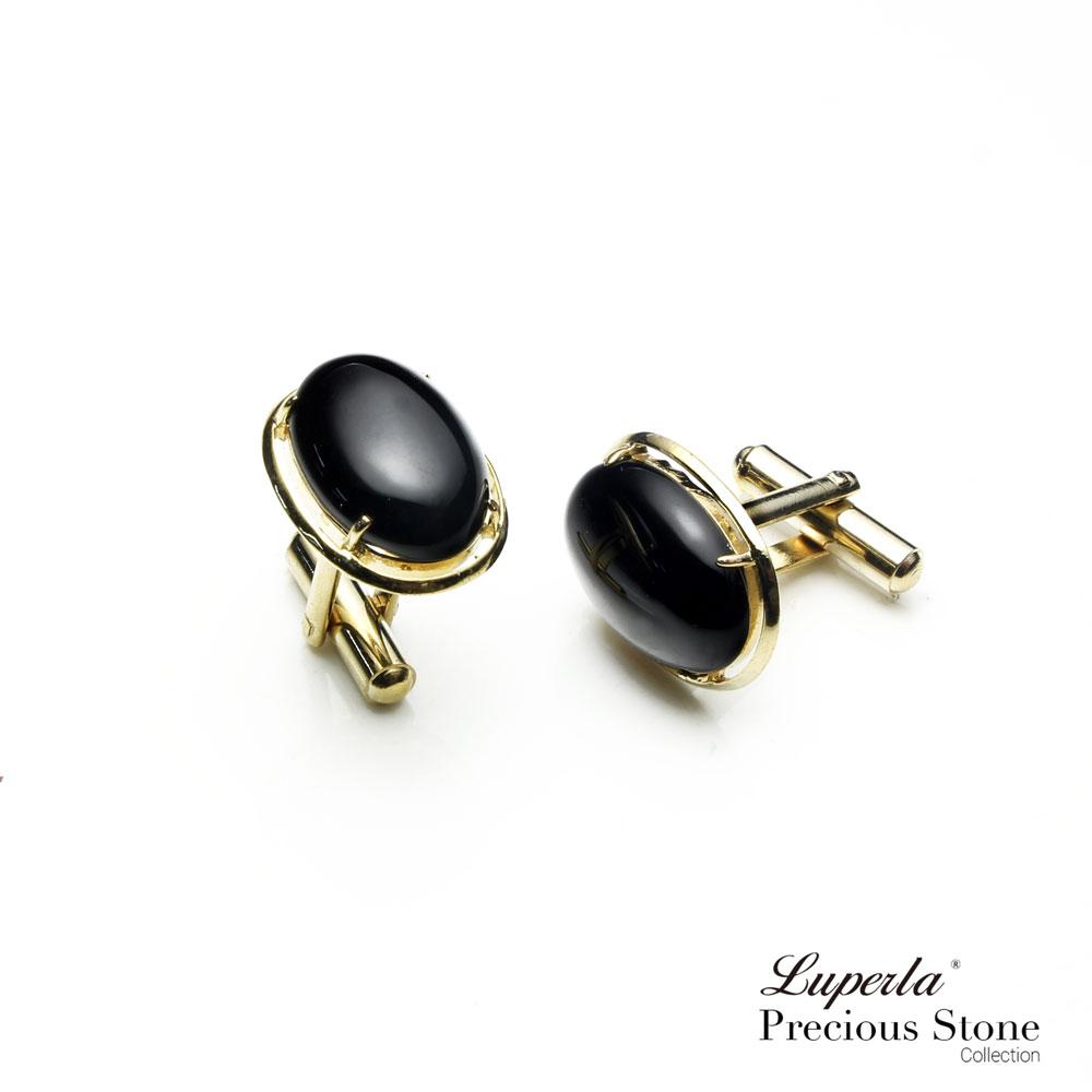大東山珠寶 極簡黑 仕紳系列 黑瑪瑙  西裝領徽 袖扣 3