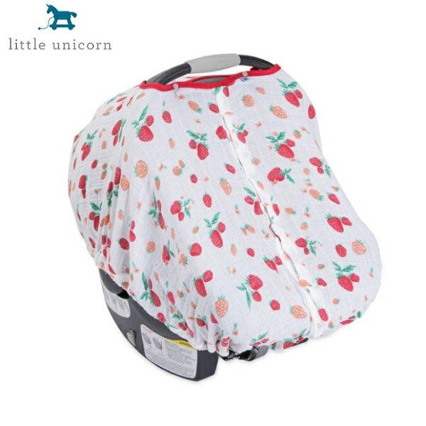 美國【LittleUnicorn】純棉紗布提籃罩-草莓牛奶