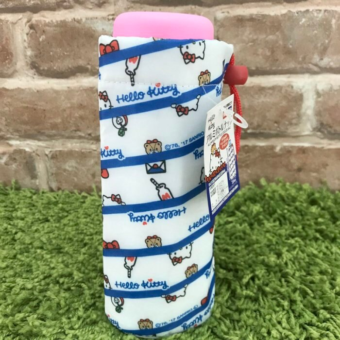 【真愛日本】17092700007 保溫保冷水壺袋-藍條KT信封 凱蒂貓 KITTY 日用品 水壺提袋 手提袋 保溫袋