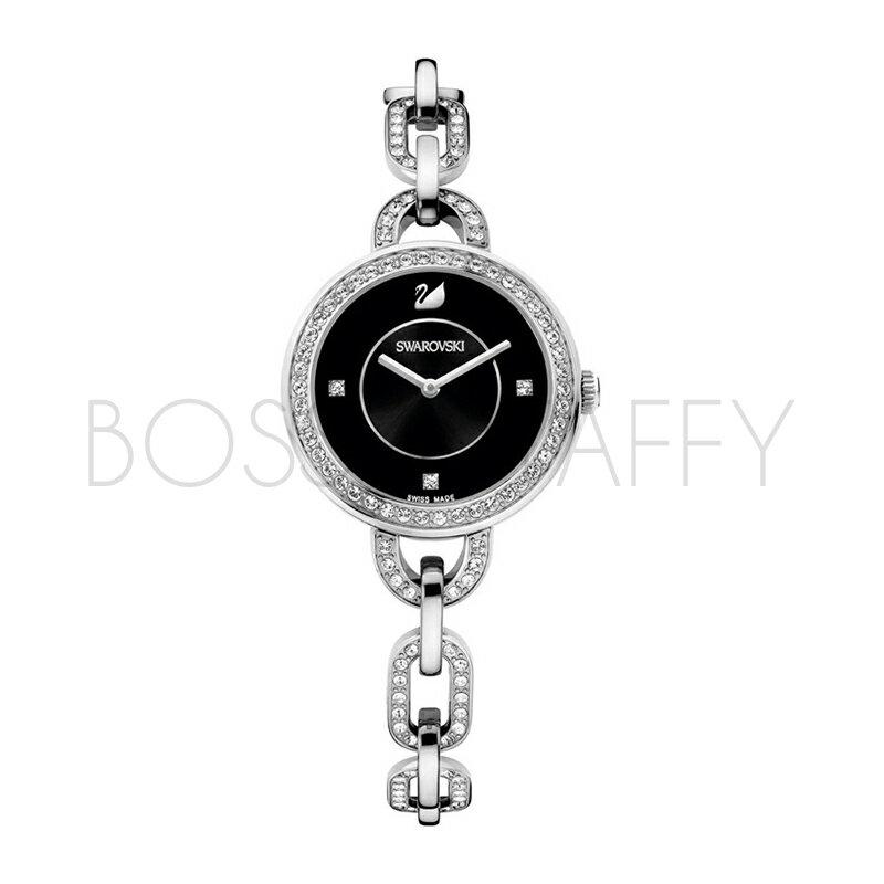 SWAROVSKI 施華洛世奇 Aila 鍊戀時尚水鑽仕女腕錶 1094377 經典銀錶盤黑
