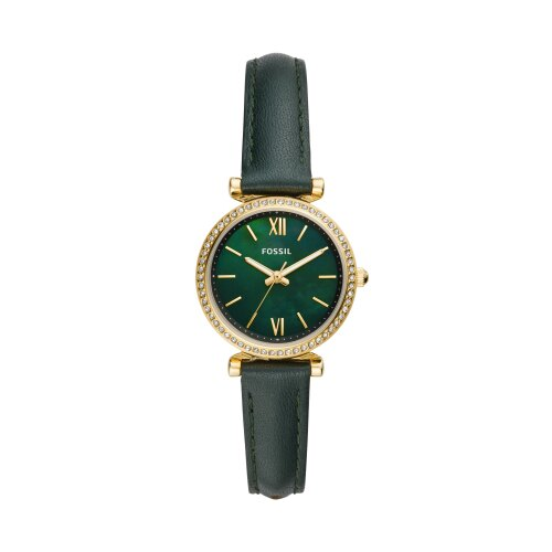 FOSSIL質感時尚設計款腕錶/綠色ES4651