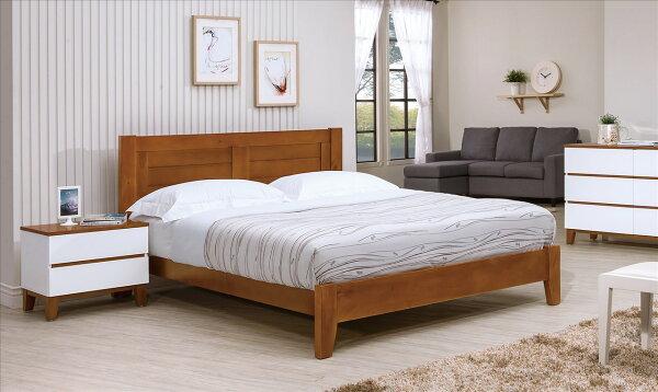 【石川家居】YE-A185-02凱西柚木色6尺床台(不含床墊及其他商品)台北到高雄搭配車趟免運