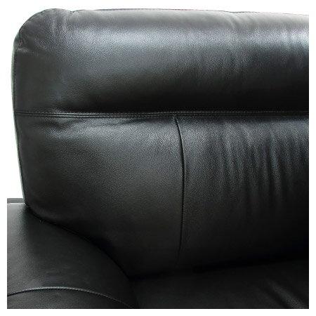 ◎(OUTLET)半皮2人用沙發 STONE BK 福利品 NITORI宜得利家居 6