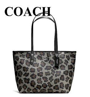 【momi宅便舖】美國COACH都會時尚豹紋印花托特包女包COACH包包包專櫃品牌outlet產品編號F36883