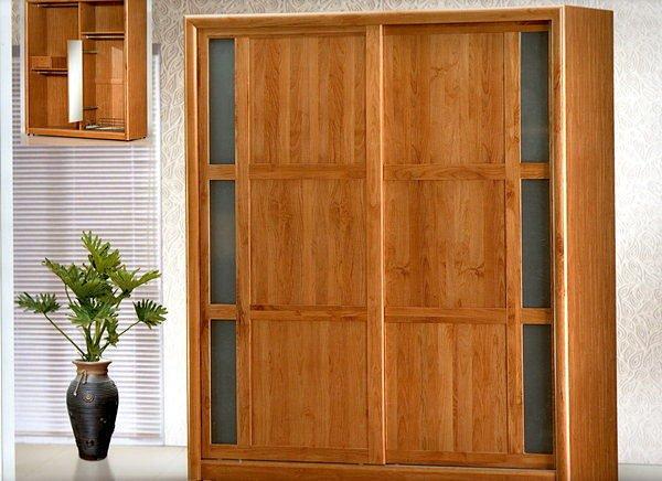 【尚品家具】614-12 正赤楊實木現代6尺推門衣櫃衣櫥《台中市部分地區免運費》